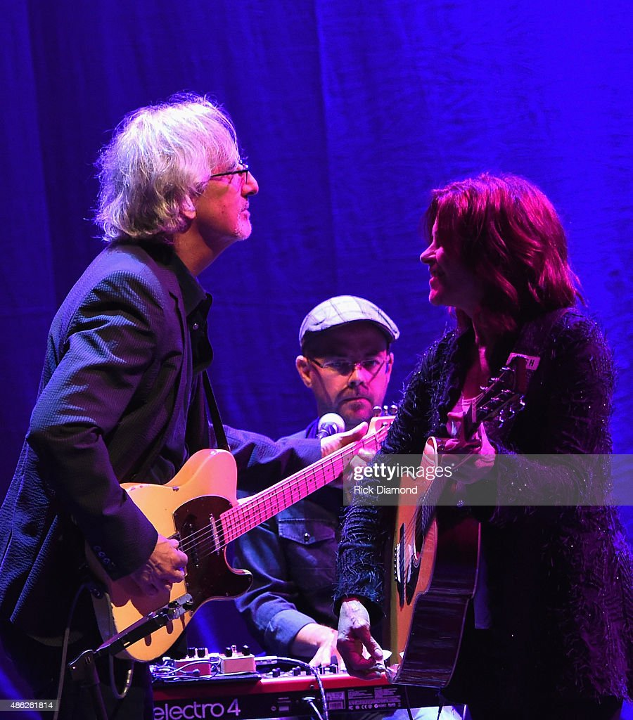 John Leventhal and Rosanne during Rosanne Cash Performs 'The River And The Thread' During Her First Artist-in-Residence Show at The Country Music Hall of Fame and Museum on September 2, 2015 in Nashville, Tennessee.
