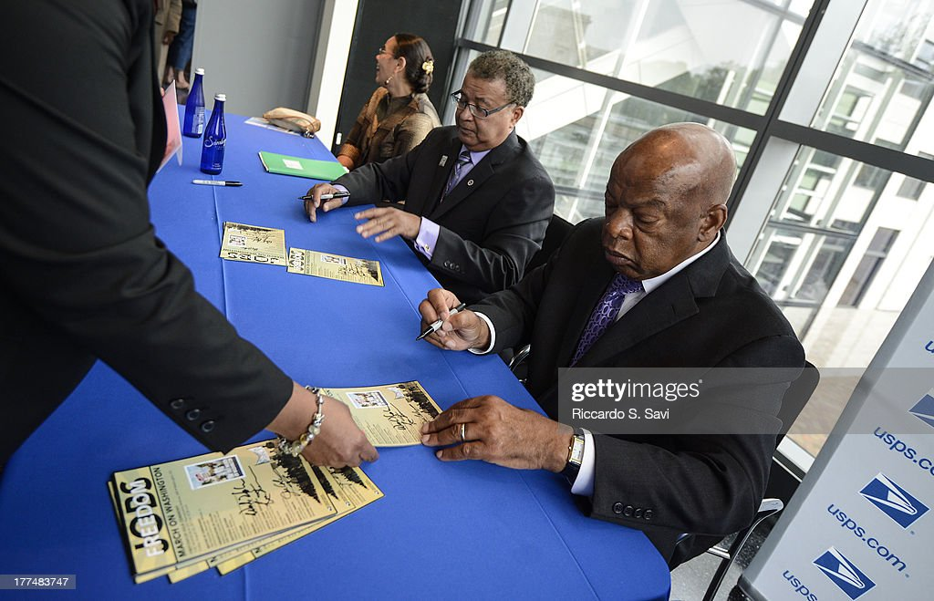 John Lewis attends the U.S. Postal Service Unveils 1963 March On Washington Stamp on August 23, 2013 in Washington, United States.