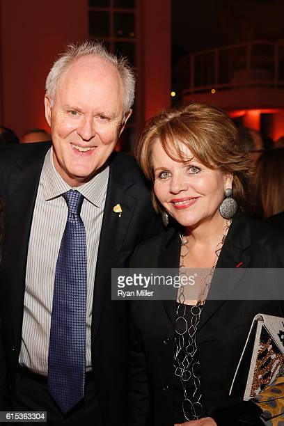 John Lithgow and Renée Fleming pose during The J Paul Getty Medal Dinner on October 17 2016 in Los Angeles California