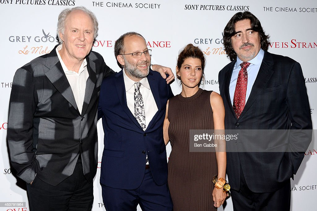 <a gi-track='captionPersonalityLinkClicked' href=/galleries/search?phrase=John+Lithgow&family=editorial&specificpeople=202537 ng-click='$event.stopPropagation()'>John Lithgow</a>, <a gi-track='captionPersonalityLinkClicked' href=/galleries/search?phrase=Ira+Sachs&family=editorial&specificpeople=2260924 ng-click='$event.stopPropagation()'>Ira Sachs</a>, <a gi-track='captionPersonalityLinkClicked' href=/galleries/search?phrase=Marisa+Tomei&family=editorial&specificpeople=201516 ng-click='$event.stopPropagation()'>Marisa Tomei</a> and <a gi-track='captionPersonalityLinkClicked' href=/galleries/search?phrase=Alfred+Molina&family=editorial&specificpeople=211218 ng-click='$event.stopPropagation()'>Alfred Molina</a> attend the Sony Pictures Classics With The Cinema Society & Grey Goose screening of 'Love Is Strange' at Tribeca Grand Hotel on August 18, 2014 in New York City.