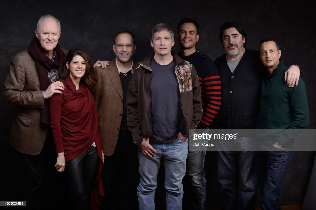 John Lithgow Marisa Tomei Ira Sachs Darren E Burrows Cheyenne Jackson Alfred Molina and Mauricio Zacharias pose for a portrait during the 2014...