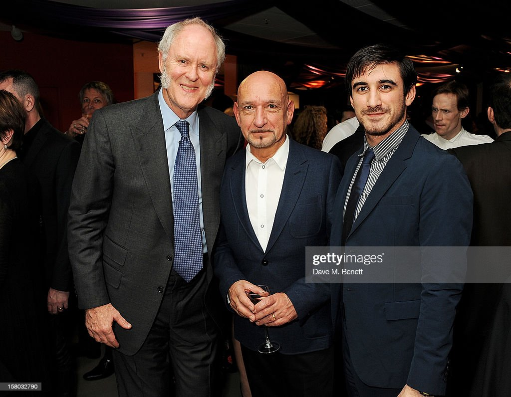 John Lithgow, Sir Ben Kingsley and son Ferdinand Kingsley attend an after party following the press night performance of Matthew Bourne's Sleeping Beauty at Sadler's Wells Theatre on December 9, 2012 in London, England.