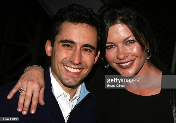 John Lloyd Young and Catherine ZetaJones during Michael Douglas and Catherine ZetaJones Attend 'Jersey Boys' on Broadway at The August Wilson Theater...