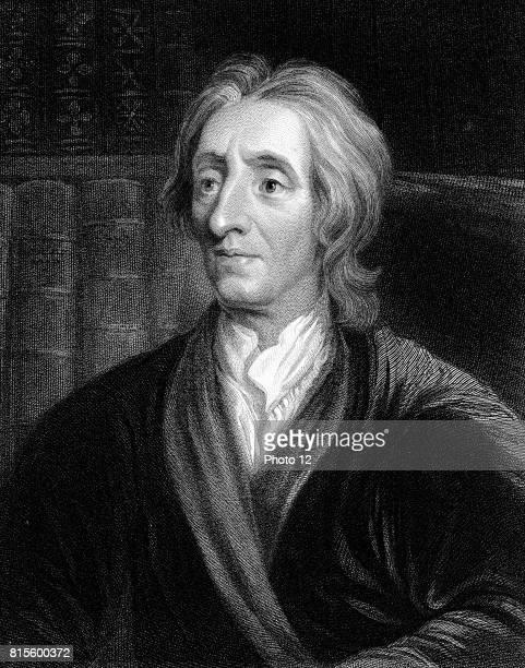 John Locke English philosopher Engraving portrait by Kneller