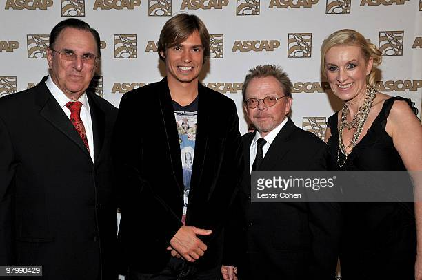 ASCAP CEO John LoFrumento musician Carlos Baute ASCAP President Chairman of the Board Paul Williams and ASCAP Sr VP Alexandra Lioutikoff arrive at...