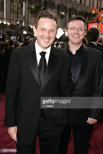 John Logan screenwriter and Mart Madden during The 77th Annual Academy Awards Executive Arrivals at Kodak Theatre in Hollywood California United...