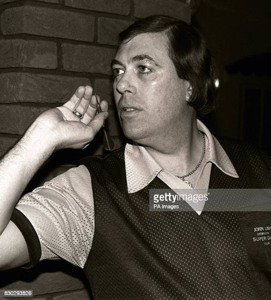 John Lowe from Chesterfield one of England's top darts players A former World Champion he holds the News of the World and the World Cup singles titles
