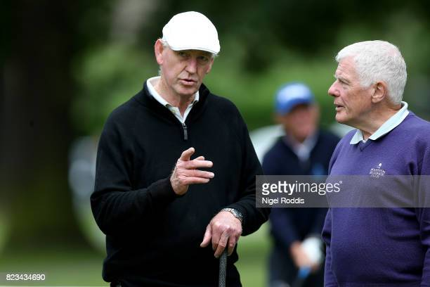 NOTTINGHAM ENGLAND JULY 27 John Lower and Stuart Belcher of Wollaton Park Golf Club during Day 2 of the PGA Super 60s Tournament on July 27 2017 in...