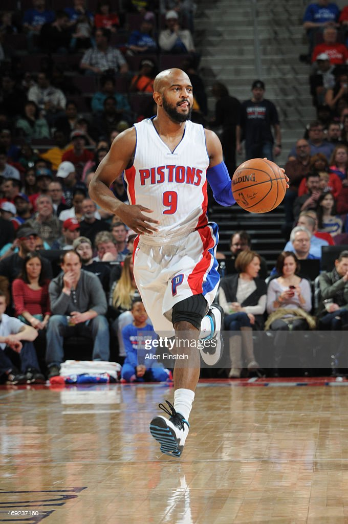 <a gi-track='captionPersonalityLinkClicked' href=/galleries/search?phrase=John+Lucas+III&family=editorial&specificpeople=784337 ng-click='$event.stopPropagation()'>John Lucas III</a> #9 of the Detroit Pistons drives to the basket against the Indiana Pacers during the game on April 10, 2015 at The Palace of Auburn in Detroit, Michigan.