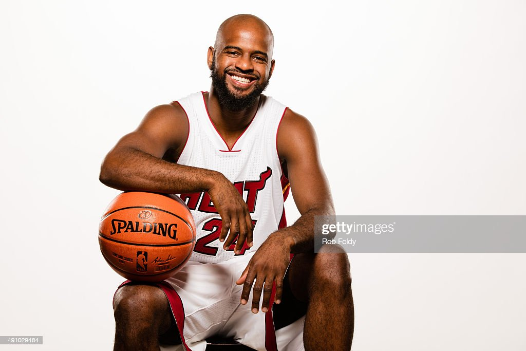 <a gi-track='captionPersonalityLinkClicked' href=/galleries/search?phrase=John+Lucas+III&family=editorial&specificpeople=784337 ng-click='$event.stopPropagation()'>John Lucas III</a> #24 of the Miami Heat poses for a portrait during Miami Heat media day at AmericanAirlines Arena on September 28, 2015 in Miami, Florida.