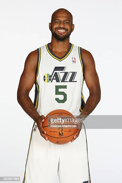 John Lucas III of the Utah Jazz poses for a photo during 2013 Media Day at Zions Basketball Center on September 30 2013 in Salt Lake City Utah NOTE...