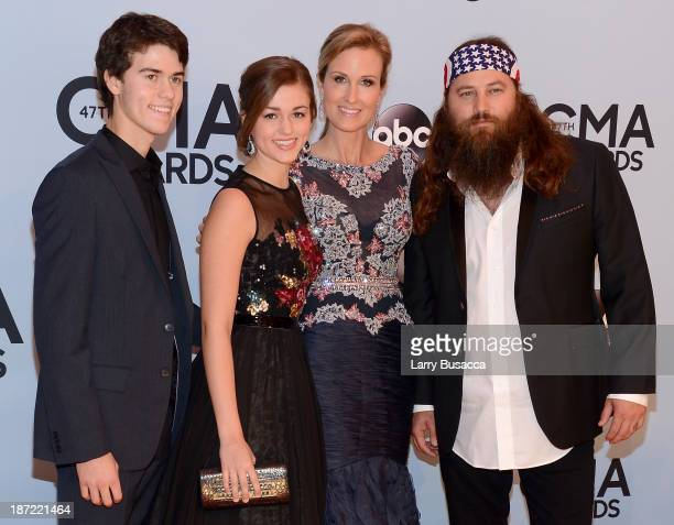 John Luke Sadie Korie and Willie Robertson of Duck Dynasty attend the 47th annual CMA Awards at the Bridgestone Arena on November 6 2013 in Nashville...