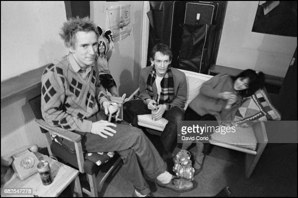 John Lydon and Keith Levene of Public Image Ltd at Virgin Records Portobello Road London on October 6 1980