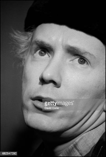 John Lydon at a press conference for Public Image Limited at Royal Lancaster Hotel London 26 October 1983