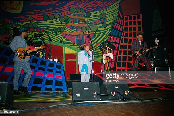 John Lydon formerly known as Johnny Rotten of the Sex Pistols fronts his band Public Image Limited during their Happy album tour in 1988