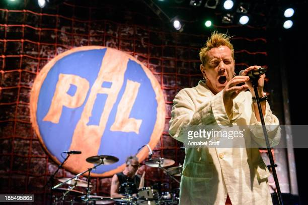 John Lydon of Public Image Limited performs on stage at Shepherds Bush Empire on October 21 2013 in London England