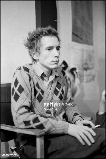 John Lydon of Public Image Ltd at Virgin Records Portobello Road London on October 6 1980