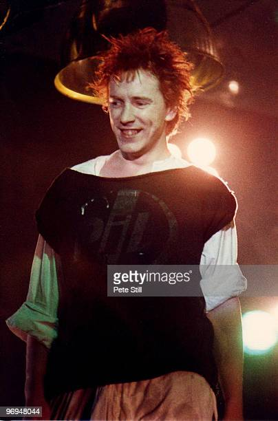 John Lydon of Public Image Ltd performs on stage at Hammersmith Palais on December 4th 1983 in London England