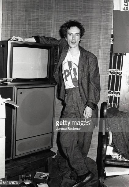 John Lydon of Public Image Ltd photographed at his apartment in Notting Hill London 1979