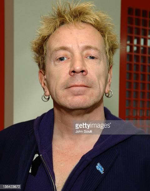 John Lydon of the Sex Pistols during John Lydon and Steve Jones of the Sex Pistols at Indie 1031 March 10 2006 at Indie 1031 in Los Angeles...
