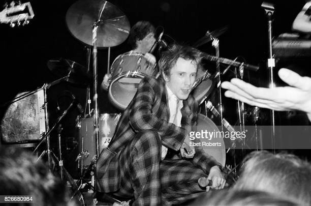 John Lydon performing with Public Image Ltd at Great Gildersleeves in New York City on April 22 1980