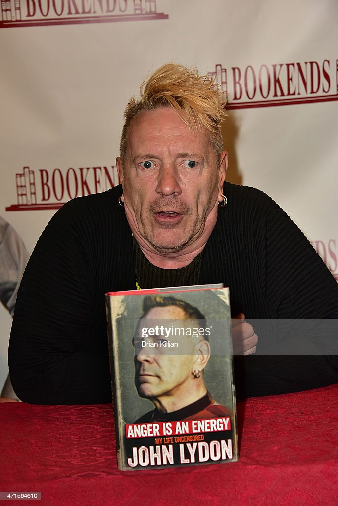 John Lydon Signs Copies Of His Book 'Anger Is An Energy' at Bookends on April 29 2015 in Ridgewood New Jersey