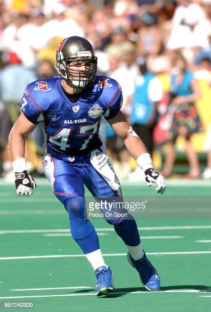 John Lynch of the NFC in action against the AFC during the NFL Pro Bowl Game February 2 2003 at Aloha Stadium in Honolulu Hawaii The AFC won the game...