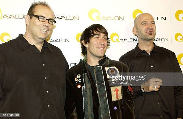 John Lyons Brent Bolthouse and Steve Adelman during Avalon Hollywood Grand Opening at Avalon Hollywood in Hollywood California United States