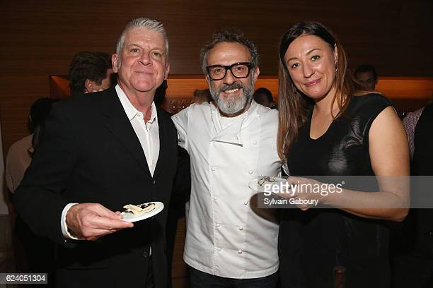 John Lyons Massimo Bottura and Kate Brashares attend Edible Schoolyard NYC Annual Harvest Dinner with Chef Massimo Bottura Hosted by Lela Rose at...