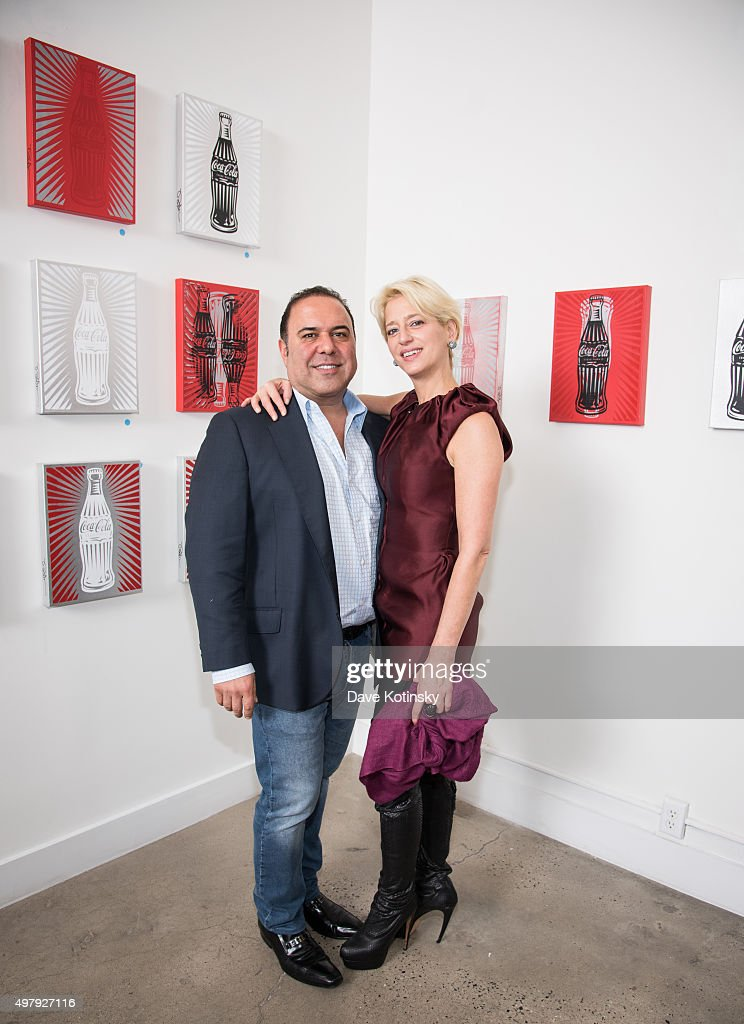 John Mahdessian and Dorinda Medley attend the Sheila Rosenblum Resident Magazine Cover Party at Soho Contemporary Art Gallery on November 19, 2015 in New York City.
