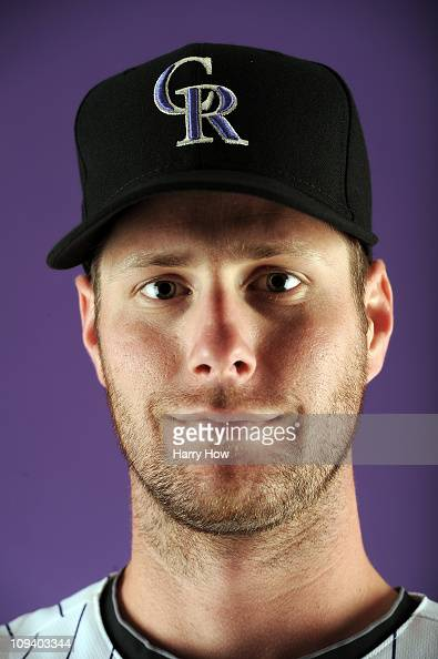 John Maine of the Colorado Rockies poses for a portrait during photo day at the Salt River Fields at Talking Stick on February 24 2011 in Scottsdale...