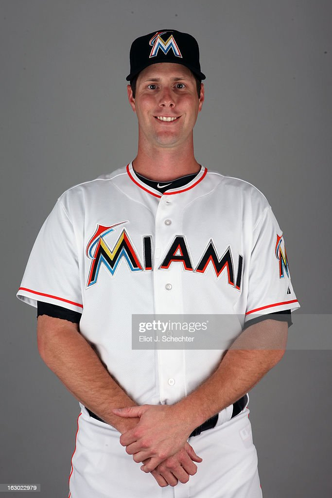 John Maine #73 of the Miami Marlins poses during Photo Day on Friday, February 22, 2013 at Roger Dean Stadium in Jupiter, Florida.
