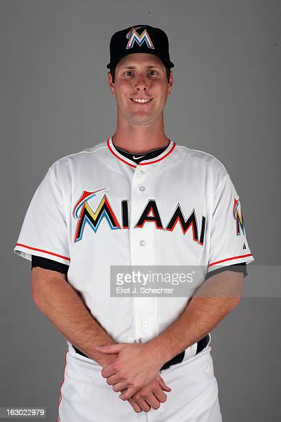 John Maine of the Miami Marlins poses during Photo Day on Friday February 22 2013 at Roger Dean Stadium in Jupiter Florida