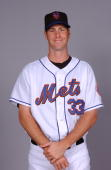 John Maine of the New York Mets poses during photo day at Mets Stadium on February 25 2007 in Viera Florida