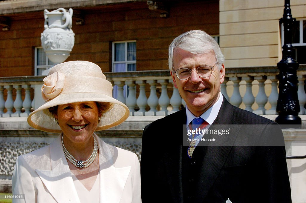 John Major and his wife Norma attend a lunch for Second World War Veterans in the gardens of Buckingham Palace on National Commemoration Day July 10...
