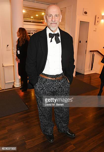 John Malkovich attends a cocktail reception at The 62nd London Evening Standard Theatre Awards recognising excellence from across the world of...
