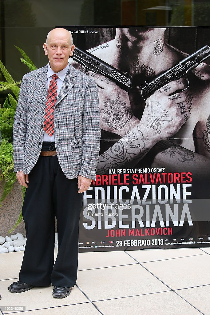 <a gi-track='captionPersonalityLinkClicked' href=/galleries/search?phrase=John+Malkovich&family=editorial&specificpeople=208819 ng-click='$event.stopPropagation()'>John Malkovich</a> attends the 'Educazione Siberiana' photocall at Hotel Visconti Palace on February 22, 2013 in Rome, Italy.