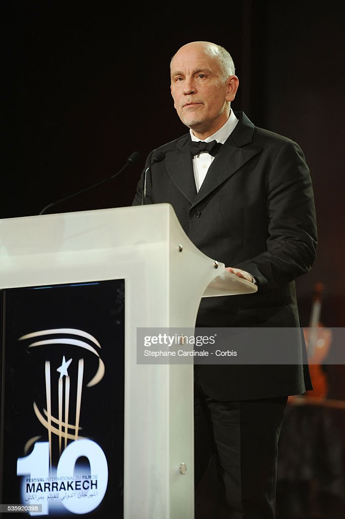 John Malkovich attends the Opening Ceremony of the Marrakech 10th Film Festival.