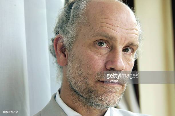 John Malkovich during 2002 Venice Film Festival 'Ripley's Game' Portraits at Hotel Des Bains in Venice Lido Italy