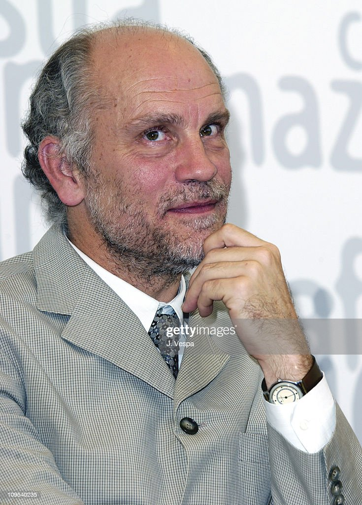 <a gi-track='captionPersonalityLinkClicked' href=/galleries/search?phrase=John+Malkovich&family=editorial&specificpeople=208819 ng-click='$event.stopPropagation()'>John Malkovich</a> during 2002 Venice Film Festival - 'Ripley's Game' Photocall at Casino in Venice Lido, Italy.