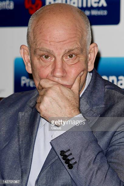 John Malkovich during a press conference of the play La Comedia Infernal at W Hotel on April 11 2012 Mexico City Mexico