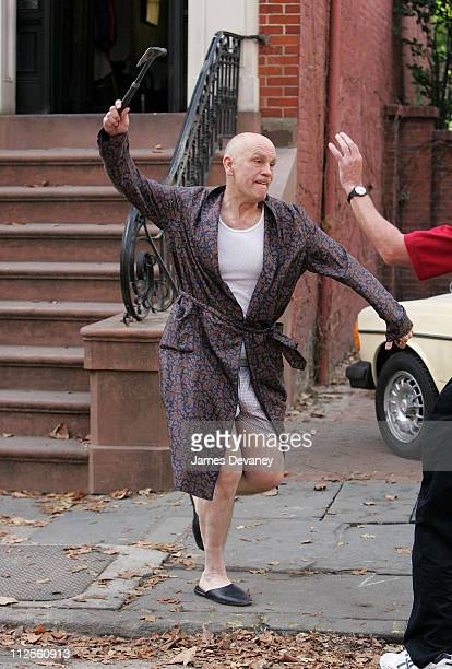 John Malkovich on the set of 'Burn After Reading' on October 4 2007 in New York City