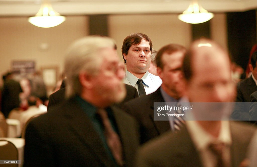 John Mangham, a chemical engineer, waits in line to talk with recruiters during the Choice Career Fair held at the Doubletree Hotel on August 19, 2010 in Dallas, Texas. First-time jobless claims rose for the third week in a row, reaching the highest level in nine months.