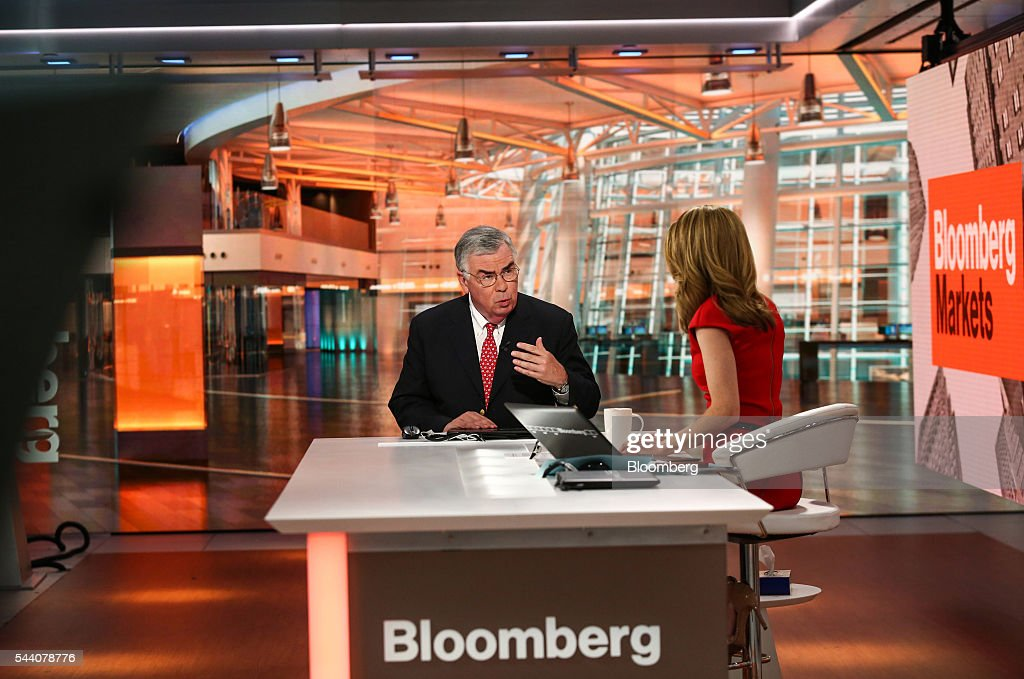 John Manley chief equity strategist at Wells Fargo Funds Management speaks during a Bloomberg Television interview in New York US on Friday July 1...