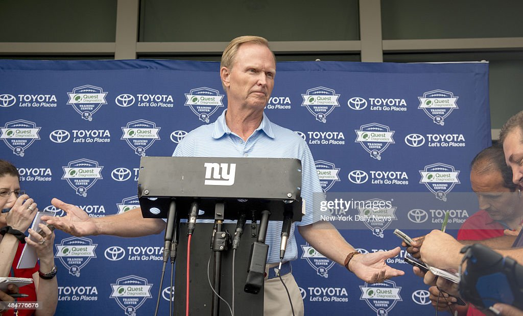 John Mara NY Giants President and CEO and coowner at New York Giants Training Camp @ Quest Diagnostic Center