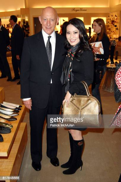 John Martins and Christine Chiu attend Manolo Blahnik In Person at Neiman Marcus at Neiman Marcus on October 7 2010 in Beverly Hills California