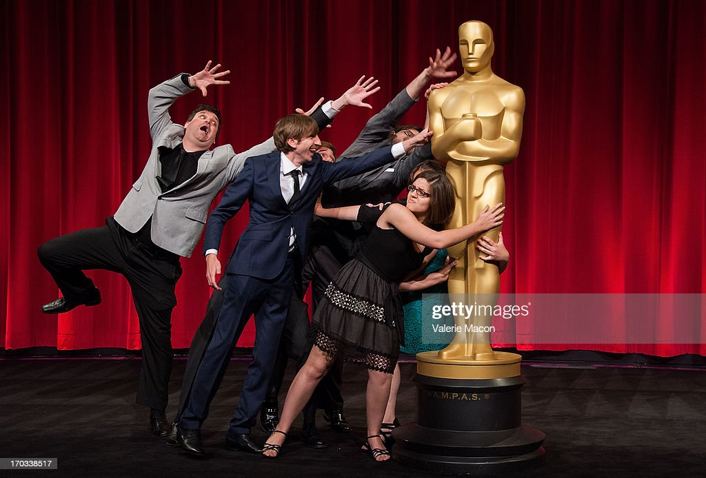 John Mattiuzzi Wouter Bouvijn and Lindsey St Pierre attends The Academy Of Motion Picture Arts And Sciences' 40th Annual Student Academy Awards...