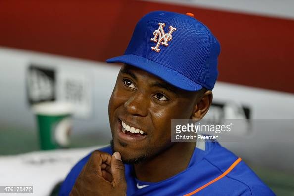 John Mayberry Jr #44 of the New York Mets before the MLB game against the Arizona Diamondbacks at Chase Field on June 5 2015 in Phoenix Arizona The...
