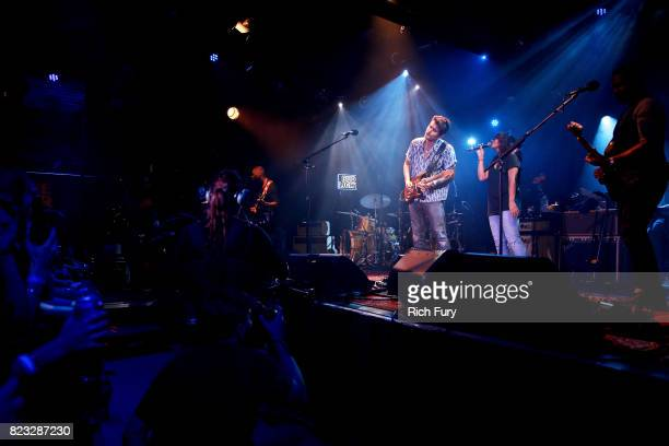 John Mayer and Alessia Cara perform for Bud Light's Dive Bar Tour at the Echoplex In Los Angeles on July 26 2017 in Los Angeles California