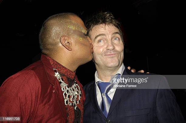 John Mayer and Bradley Walsh during North West Comedy Awards October 28 2005 at Piccadilly Hotel in Manchester Great Britain